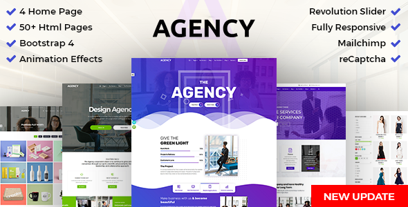 DZone-Agency: Creative Multipurpose Bootstrap 4 HTML Template - Creative Site Templates