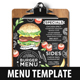Burger Food Menu - GraphicRiver Item for Sale