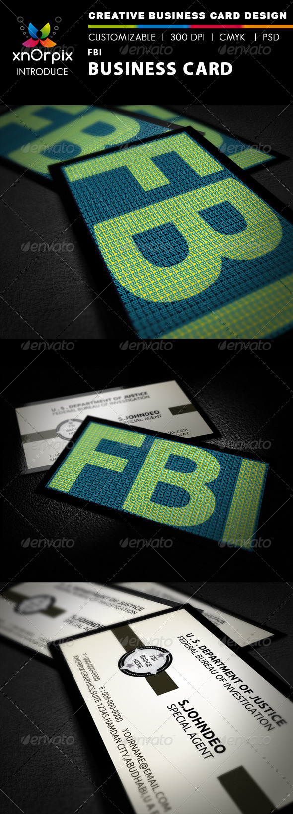 FBI Business Card by -axnorpix | GraphicRiver