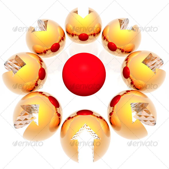 Spheres with an arrow - GraphicRiver Item for Sale