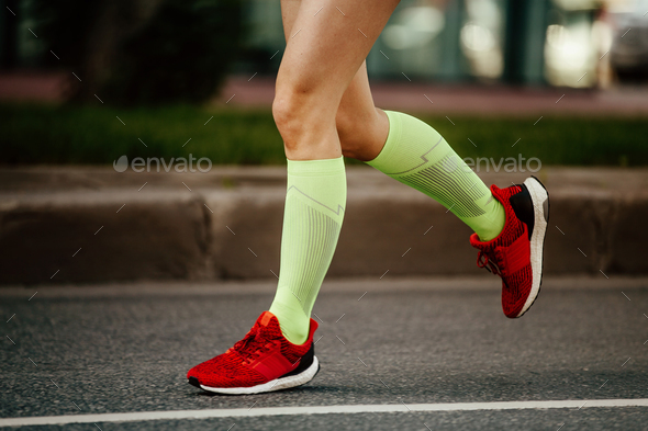 women feet runner - Stock Photo - Images