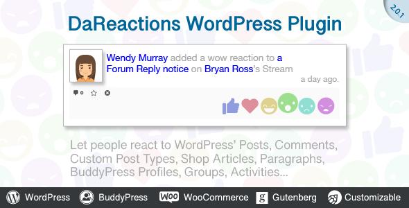 Reactions WordPress Plugin - CodeCanyon Item for Sale