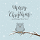 Lettering Merry Christmas on Winter Background - GraphicRiver Item for Sale