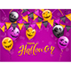 Happy Halloween with Scary Balloons and Pennants - GraphicRiver Item for Sale