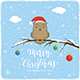 Owl Christmas on Winter Background - GraphicRiver Item for Sale