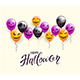 Text Happy Halloween and Scary Balloons - GraphicRiver Item for Sale