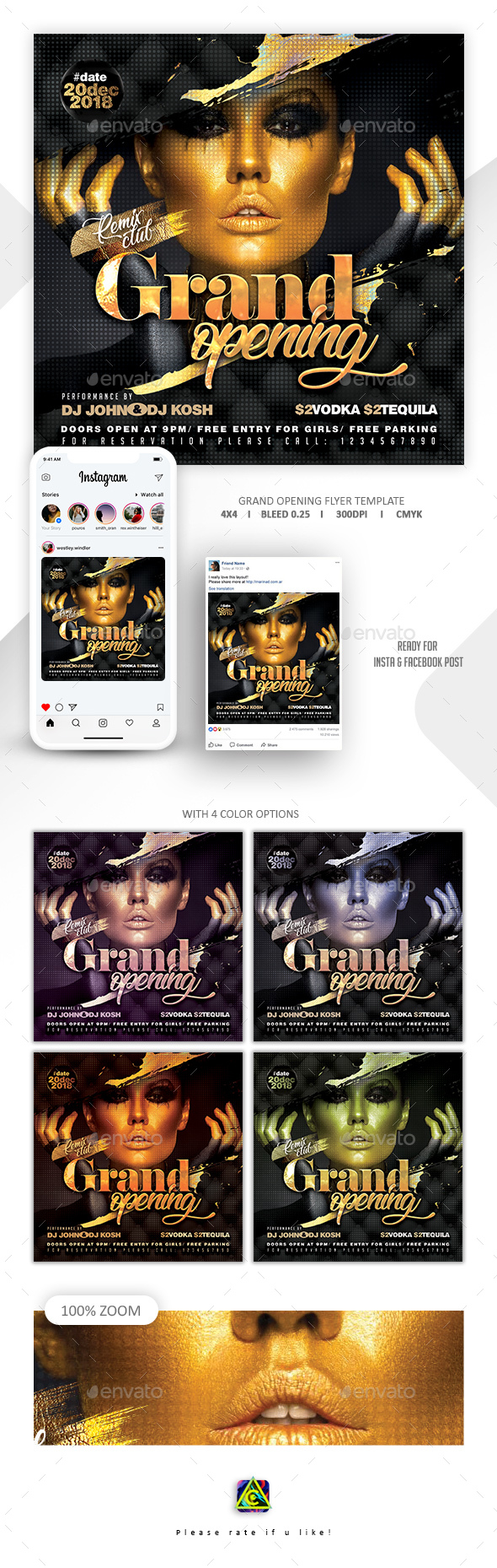Grand Opening Party Flyer - Clubs & Parties Events