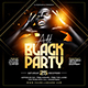 All Black Party Flyer Template - GraphicRiver Item for Sale
