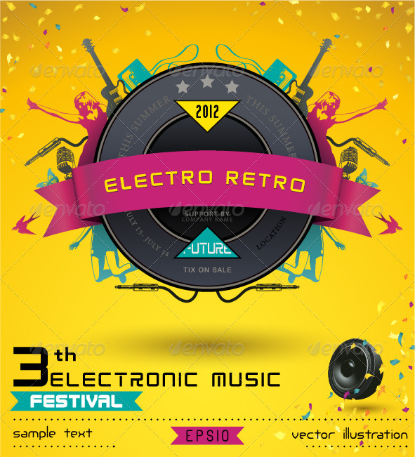 Electro Retro - Conceptual Vectors