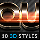 10 3D Styles vol. 14 - GraphicRiver Item for Sale