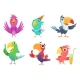 Cartoon Parrot Characters - GraphicRiver Item for Sale
