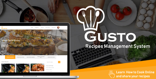 Gusto - Recipes Management System Free Download | Nulled