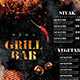 Grill Bar Menu - GraphicRiver Item for Sale
