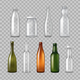 Realistic Glass Bottles Transparent Set - GraphicRiver Item for Sale
