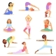 Yoga Woman Vector Young Women Yogi Character - GraphicRiver Item for Sale