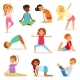 Yoga Kids Vector Young Child Yogi Character - GraphicRiver Item for Sale