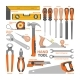Hand Tool Vector Construction Handtools Hammer - GraphicRiver Item for Sale