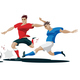 Players are Fighting for the Ball - GraphicRiver Item for Sale