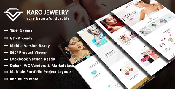 Karo - Jewelry and Diamond Handcrafted WooCommerce WordPress Theme - WooCommerce eCommerce