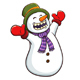 Happy Snowman Christmas Character - GraphicRiver Item for Sale