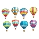 Vector Sketch Icons Set Hot Air Balloons - GraphicRiver Item for Sale