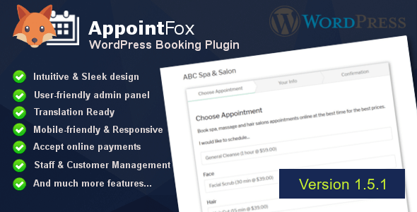 AppointFox - WordPress Appointment Booking & Scheduling System - CodeCanyon Item for Sale