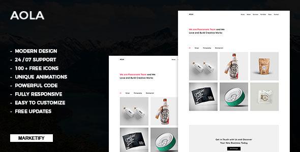 Aola | Minimalist Portfolio Template Free Download | Nulled