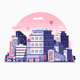 Modern City Metropolis Flat Illustration - GraphicRiver Item for Sale