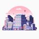 Modern City Metropolis Flat Illustration - GraphicRiver Item for Sale