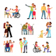 Romantic Relationships Disabled People - GraphicRiver Item for Sale
