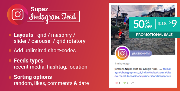 Supaz Instagram Feeds - CodeCanyon Item for Sale