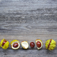 Chestnut on old wooden background with copy space for your text. - PhotoDune Item for Sale