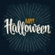 Happy Halloween Handwriting Lettering on Dark - GraphicRiver Item for Sale