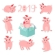 Pig New Year Character Set - GraphicRiver Item for Sale
