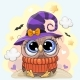 Cute Owl in a Halloween Hat - GraphicRiver Item for Sale