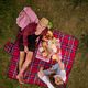Free Download top view of couple enjoying picnic time Nulled