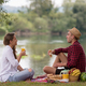 Free Download Couple in love enjoying picnic time Nulled