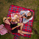 top view of couple enjoying picnic time - PhotoDune Item for Sale