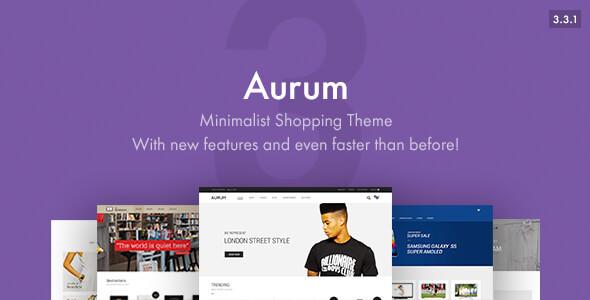 Aurum - Minimalist Shopping Theme - WooCommerce eCommerce