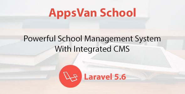 AppsVan School - School Management System With Integrated CMS Free Download | Nulled