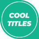 Cool Titles - VideoHive Item for Sale