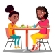 Mother and Daughter Playing a Board Game Together - GraphicRiver Item for Sale