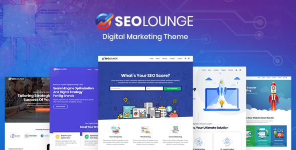 SEOLounge - SEO Agency WordPress Theme - Marketing Corporate