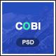 Cobi - Creative Portfolio PSD Template - ThemeForest Item for Sale