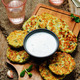 Cauliflower sweet potato Fritters with greek yogurt mint sauce - PhotoDune Item for Sale