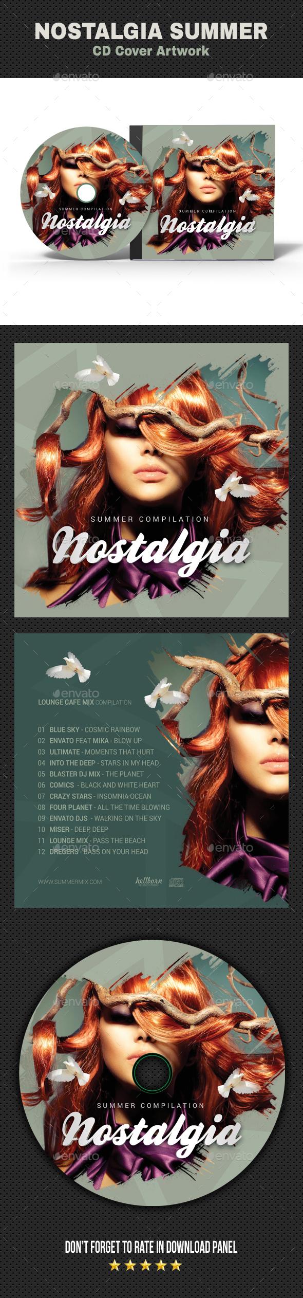 Nostalgia CD Cover - CD & DVD Artwork Print Templates
