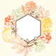 Vintage Floral Frame for Seasonal Fall Sale - GraphicRiver Item for Sale
