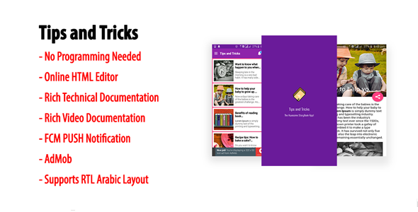 Tips and Tricks | Native Android Storybook App with AdMob & FCM PUSH Notification - CodeCanyon Item for Sale