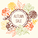 Floral Frame for Seasonal Fall Sale - GraphicRiver Item for Sale
