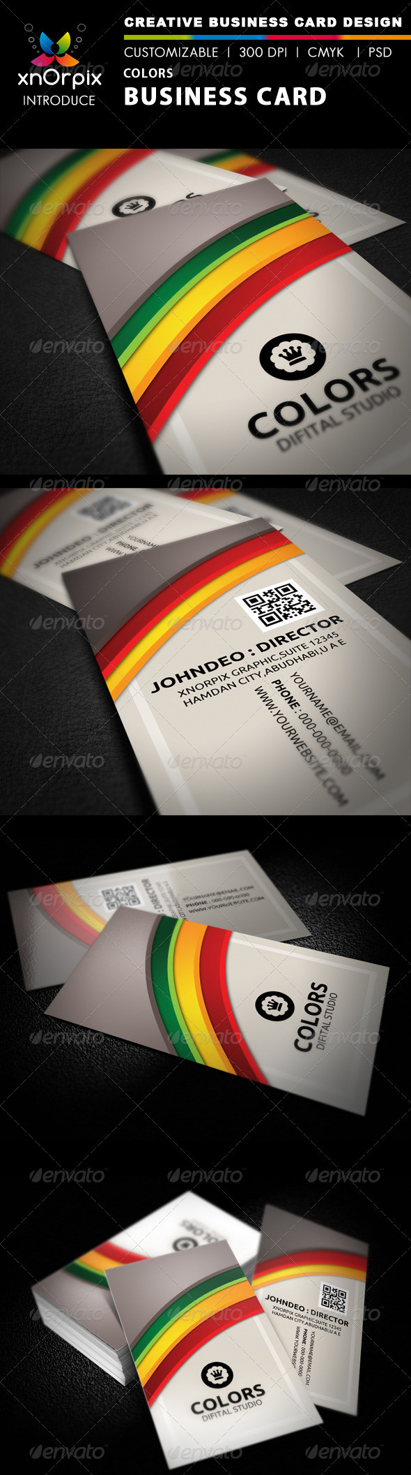 Colors Business Card - Business Cards Print Templates